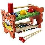 TLB Hammerbank Xylophon und Hammerspiel Kinder Klopfen Spielzeug Percussionset Baby Schlagzeug...