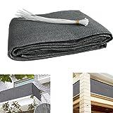 Balkon Sichtschutz UV-Schutz blickdichte wetterbeständige Balkonbespannung Balkonverkleidung mit...
