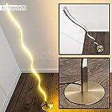 LED Stehleuchte Dillon aus Metall – geschwungene Bodenleuchte – Standlampe für Schlafzimmer,...