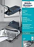 AVERY Zweckform 3557 Overhead-Folien (A4, spezialbeschichtet, stapelverarbeitbar, 100 Blatt)