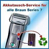 Profi-Akkuwechsel Akkutausch für alle Braun Rasierer der Series7 - sämtliche Modelle ! ACHTUNG!!!...