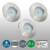 LED Badeinbaustrahler Ultra Flach Inkl. 3 x 5W LED Modul 230V IP44 Badezimmer Geeignet LED...