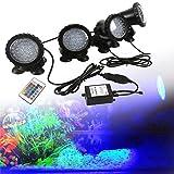 GreenSun LED Lighting Spot Lampe Unterwasser RGB Aquarium Beleuchtung 4 in 1 Aquariumlampe 36LEDs...