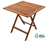 SAM Gartentisch 60x60 cm Blossom, klappbar, Akazien-Holz, FSC 100% Zertifiziert, für Balkon und...