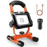 Akku-Baustrahler, Tacklife 15 W LED Flutlicht, aufladbarer und tragbarer Strahler mit 760 Lumen, 2...