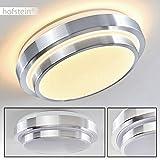 Bad Deckenlampe Sora mit energiesparendem warmweißen LED-Licht - Metall-Leuchte aus Aluminium -...