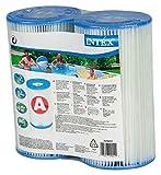 Intex 0775431 Filterpatrone für Schwimmbecken blau 10,8 x 21,6 x 20,3 cm - 2er Set