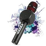 Drahtlose Bluetooth Karaoke Mikrofon, Fede 3-in-1 portables drahtloses Karaoke System mit zwei...