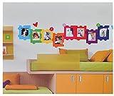 XL Wandsticker / Sticker - Fotorahmen als Puzzle für Foto´s - Herzen Blumen für Bilder -...
