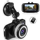 Foxcesd 2.7 '' Mini Auto Kamera 1080P DashCam mit 8GB SD-Karte enthalten, Vorder-und Rückseite...