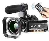Camcorder,Ansteker 4K Ultra HD Wifi Digitale Videokamera 13MP 30FPS IR Nachtsicht-Camcorder mit...