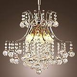Lightsjoy Luxuriös Kristallkronleuchter Moderne Kronleuchter Kristall 6*E27 Pendelleuchte Glas...