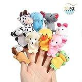 Twister.CK Fingerpuppen, Baby Story Time Requisiten, 10 Stück Tier Style Soft Samt Puppen...