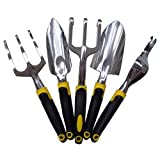 ounona Garten-Werkzeuge Set von 5Garten Kelle Gabel Pflanzmaschine Kultivator Unkrauthacke