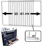 Rosenstein & Söhne Backblech: Universal-Backofenrost, ausziehbar von 35 - 61 cm, 32 cm tief...