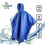 Fitgorush Regenponcho 3-in-1 Multifunktion Regenmantel , Wasserdicht Regen Poncho Taschen-Decke...