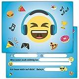 12 Lustige Smiley Einladungskarten zum Kindergeburtstag // Emoji Geburtstagseinladungen Einladungen...