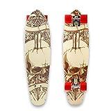 OUTCAMER 71*20*13 cm Skateboard Komplett montiertes Board aus kanadischem Ahornholz in 7 Schichten...