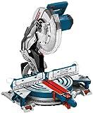 Bosch Professional Kapp- und Gehrungssäge GCM 12 JL (mit Laser, Sägeblatt, Spannzange, Karton,...