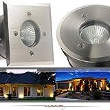 IP67 Bodeneinbaustrahler TIERRA 2 PLUS rund geeignet für LED und Halogen Leuchtmittel GU10...