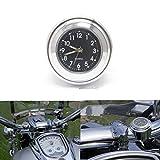ViZe 7/8' 22mm Motorrad Uhren Lenkeruhren Zifferblatt Uhr Tick Tock für Harley Davidson Suzuki...