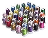 Simthreads 40 Farben Polyester Stickgarn - 500 Meter, für Brother / Babylock / Janome / Kenmore /...
