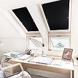 KINLO Rollo Dachfenster Schwarz 38x75cm(BxL) TOP Qualität Verdunkelungsrollo für Dachfenster...