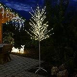 LED-Baum weiß 240 cm hoch Lichterbaum 240 LED warmweiß für innen außen von Gartenpirat®