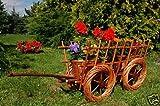 Leiterwagen aus Korbgeflecht, 70 cm, aus hochwertigem Korbmaterial, Korbgeflecht, Rattan,...
