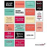 20 Postkarten mit Sprüchen I dv_187 I DIN A6 I Spruch-Karten Set lustig witzig Zitate Deko Liebe...