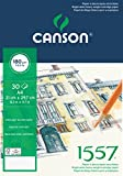 Canson 204127414 1557 Zeichen-und Skizzenpapier, A4, rein weiß