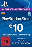 PSN Card-Aufstockung   10 EUR   PS4, PS3, PS Vita Playstation Network Download Code - deutsches...