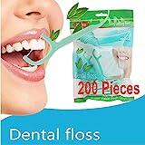 Zahnseide, 200 Stück Cool Mint Zahnpflege Interdental Flosser Zahnreiniger Sticks,...