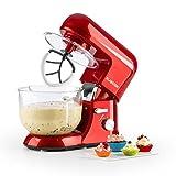 Klarstein Bella Rossa 2G • Küchenmaschine • Rührmaschine • Knetmaschine • 1200 W • 5,2...
