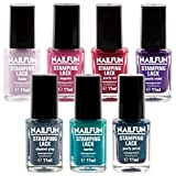 SET - 7x NAILFUN Stampinglack - Beautyful Colors - [7x 11ml]