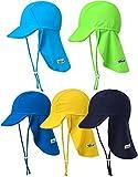 Vaenait Baby Jungen Schwimmkappe Swim hat UV Flap Cap Navy S
