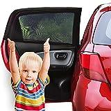 Sonnenschutz Auto Baby (2 Stück) - Sonnenblende Auto mit UV Schutz für Kinder, Hund im Rücksitz -...