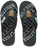 Tommy Hilfiger Herren Essential TH Beach Sandal Zehentrenner, Grün (Jungle Green 300), 42 EU