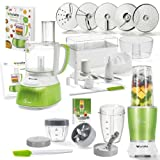 Genius Feelvita Food Processor   Deluxe Set 31 Teile   Küchenmaschine inkl. Feelvita Nutri Mixer  ...