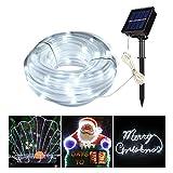 MEIKEE 8 Modi Solar Lichterschlauch 100 LEDs mit Speicherfunktion IP55 Lichterkette mit...