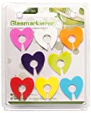 Glasmarkierer Glasmaker 8 tlg Herz Sonne oder Glas Glasmarkierung für Party (Herz)