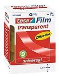 tesafilm Klebeband, transparent, Office-Box mit 6 Rollen, 66m x 25mm