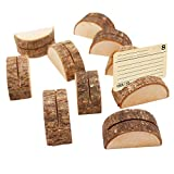 CozofLuv 20 Stück Tischkartenhalter Holz Holzsteg Platzkartenhalter Kartenhalter Memohalter...