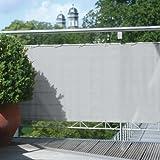 Floracord 12-75-50-07 Hochwertige Balkonumrandung aus Polyesterstoff 75 x 500 cm mit Zubehör...