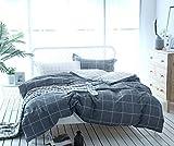 Unimall Renforcé Bettwäsche Set 2 Teilige 135 x 200 cm + 80x80 cm aus 100% Baumwolle Wende kariert...