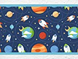 I-love-Wandtattoo b-10007 Kinderzimmer Bordüre Weltraum - Raketen und Planeten Wanddeko Kinder