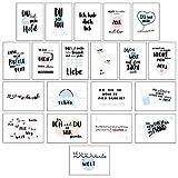 CUPCAKES & KISSES 20er Postkarten Set Liebe I Schöne Sprüche & Motive I Grußkarten mit Herz für...