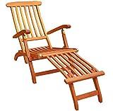 KMH, Deckchair aus Eukalyptusholz (ohne Auflage)