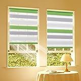 Duo Rollo Doppelrollo Klemmfix für Fenster ohne Bohren Wandmontage mit Klemmträger 40x150 cm(BxH)...