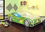 Autobett Kinderbett Bett Auto Car Junior in vier Farben mit Lattenrost und Matratze 70x140 cm Top...